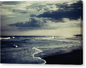 Beach Afternoon Canvas Print by Rodney Lee Williams