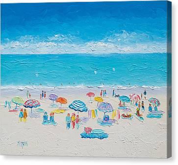 Beach Art - Fun In The Sun Canvas Print by Jan Matson