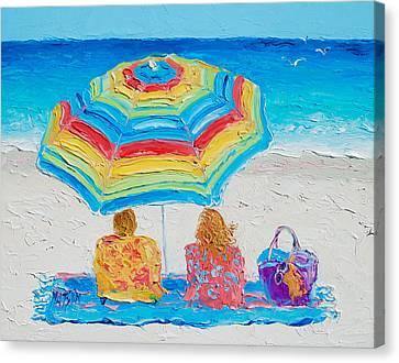 Beach Art - Perfect Day Canvas Print by Jan Matson