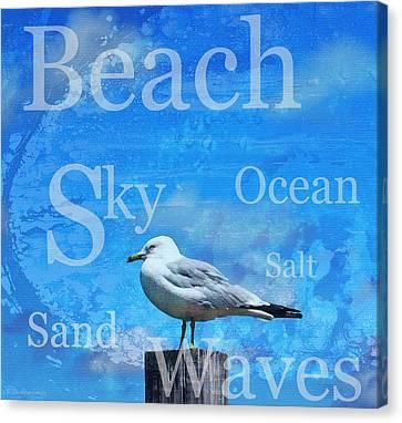 Beach Art Seagull By Sharon Cummings Canvas Print by Sharon Cummings