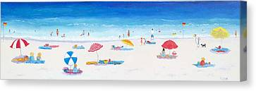 Beach Art - Very Long Hot Summer Canvas Print