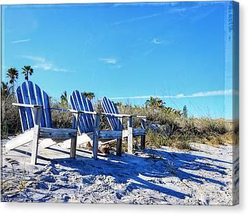 Friend Canvas Print - Beach Art - Waiting For Friends - Sharon Cummings by Sharon Cummings