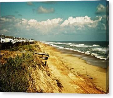 Beach At Corolla Canvas Print