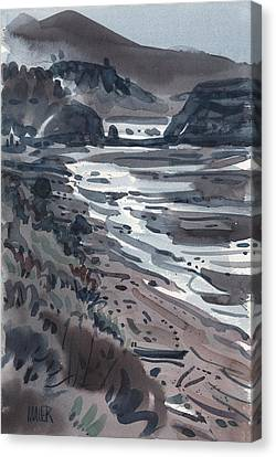Sonoma Coast Canvas Print - Beach At Jenner by Donald Maier
