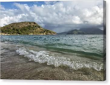 Beach At St. Kitts Canvas Print