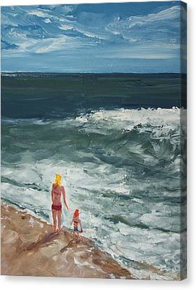 Beach Babes II Canvas Print by Pete Maier