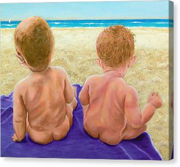 Beach Babies Canvas Print