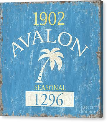 Beach Badge Avalon Canvas Print by Debbie DeWitt