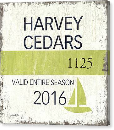 Beach Badge Harvey Cedars Canvas Print by Debbie DeWitt