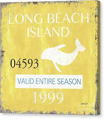 Beach Badge Long Beach Island 2 Canvas Print