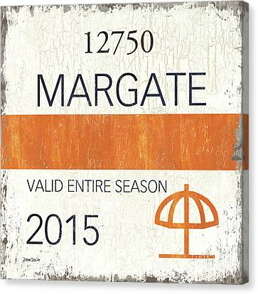 Beach Badge Margate Canvas Print by Debbie DeWitt