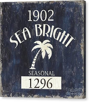 Beach Badge Sea Bright Canvas Print