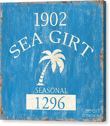 Beach Badge Sea Girt Canvas Print by Debbie DeWitt