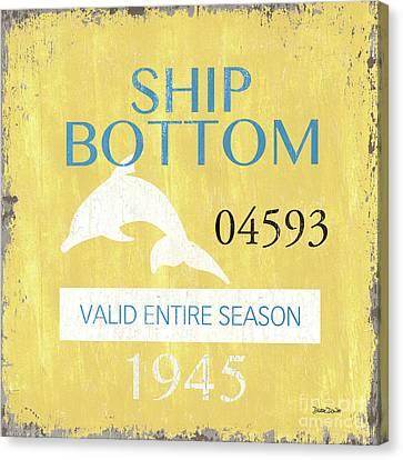 Beach Badge Ship Bottom Canvas Print