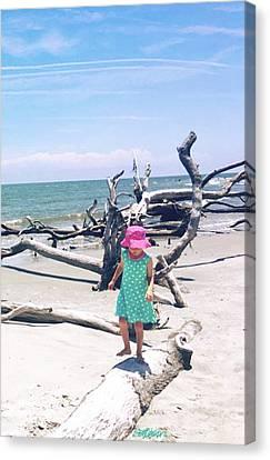 Canvas Print - Beach Balancing Act by Seth Weaver