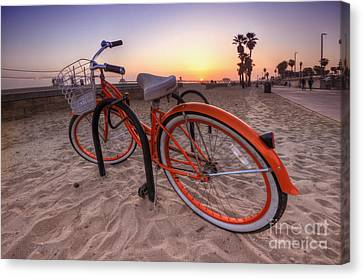 Beach Bike Canvas Print