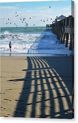 Pier Canvas Print - Beach Bliss by Laura Fasulo