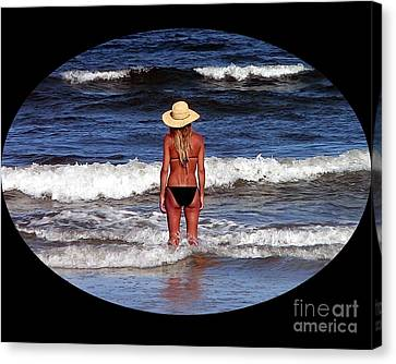 Canvas Print featuring the photograph Beach Blonde .png by Al Powell Photography USA