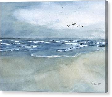 Beach Blue Canvas Print
