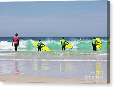 Canvas Print featuring the photograph Beach Boys Go Surfing by Terri Waters