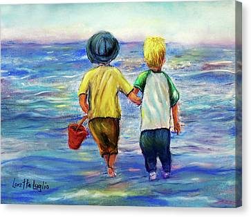 Beach Buddies Canvas Print by Loretta Luglio