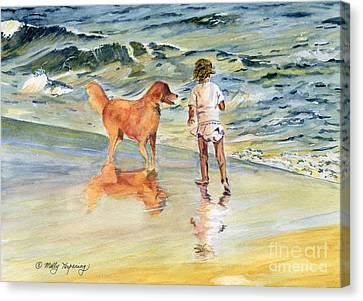 Beach Buddies Canvas Print by Melly Terpening