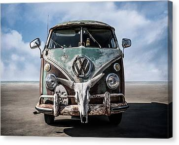 Rusted Cars Canvas Print - Beach Bum by Douglas Pittman