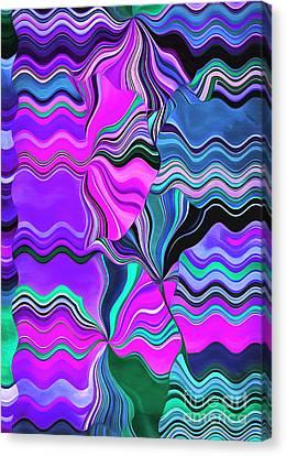 Wavy Canvas Print - Beach Bum by Krissy Katsimbras