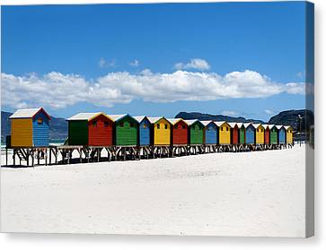 Beach Cabins  Canvas Print by Fabrizio Troiani