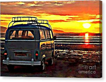 Beach Camper Canvas Print