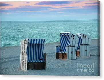 Beach Chair At Sylt, Germany Canvas Print by Amanda Mohler