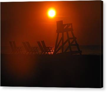 Canvas Print - Beach Chair Silhouette 1 by Shane Brumfield