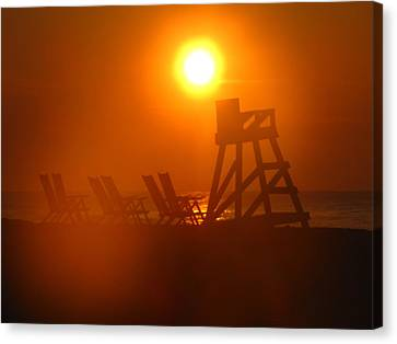 Canvas Print - Beach Chair Silhouette 2 by Shane Brumfield