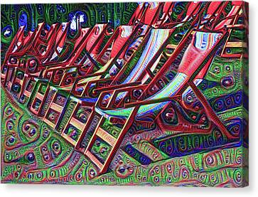 Beach Chairs Canvas Print by Bill Cannon