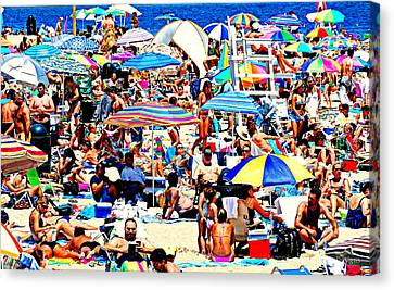 Beach Chaos Canvas Print by Diana Angstadt