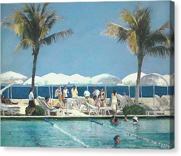 Beach Club Canvas Print