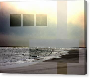 Beach Collage 2 Canvas Print by Steve Karol