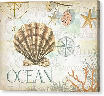 Beach Collage B Canvas Print by Grace Pullen