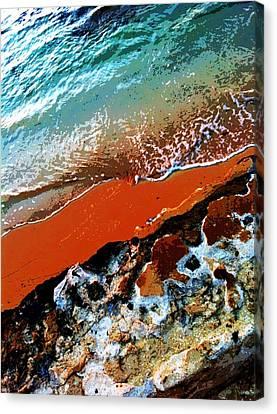 Beach Collage Canvas Print by Erika Swartzkopf
