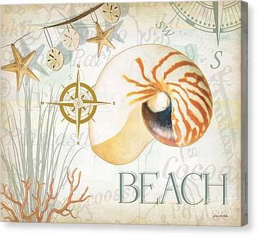 Beach Collage Canvas Print by Grace Pullen