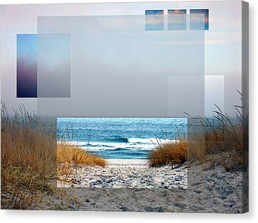 Beach Collage Canvas Print by Steve Karol