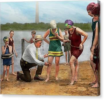 Beach - Cop A Feel 1922 Canvas Print by Mike Savad