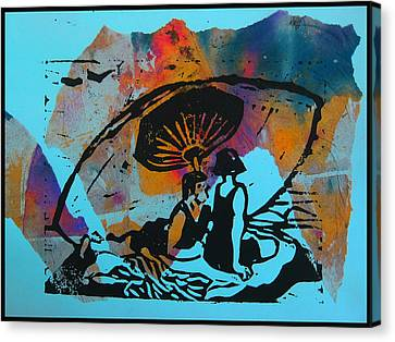 Beach Couple 1 Canvas Print by Adam Kissel