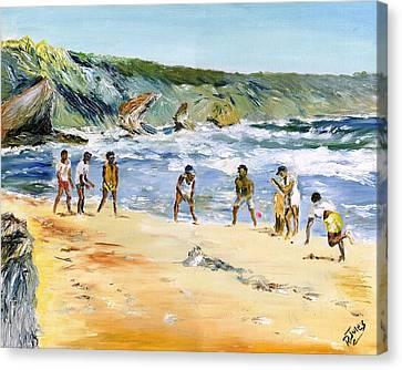 Beach Cricket Canvas Print