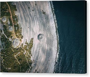 Beach Crystal Canvas Print