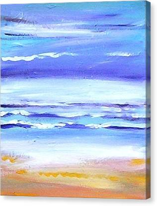 Beach Dawn Canvas Print by Winsome Gunning