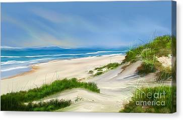Beach Day Canvas Print by Anthony Fishburne