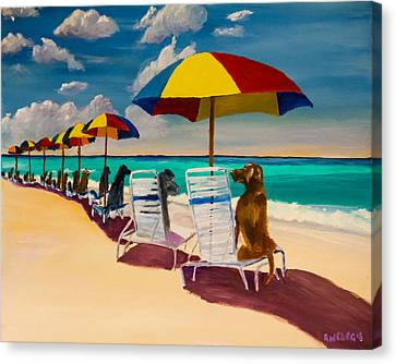 Beach Day Canvas Print by Roger Wedegis