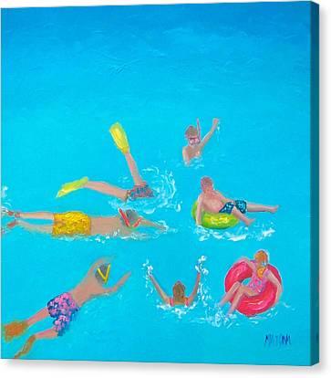 Beach Decor 'holiday Splash' By Jan Matson Canvas Print