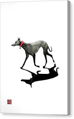 Beach Dog Canvas Print by Richard Williamson